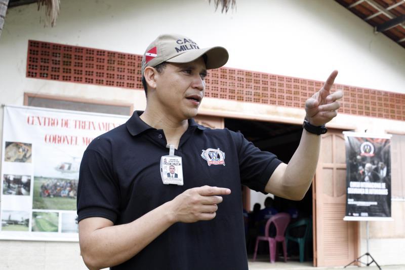 """""""O treinamento percorre todas as situações em que uma autoridade pode estar em risco"""", explica o sub-coordenador do curso, capitão da Polícia Militar, Carlos Mesquita"""
