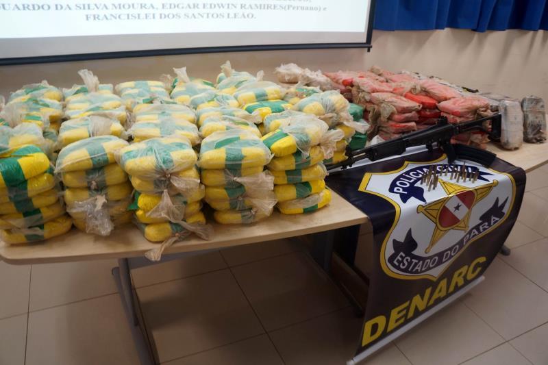 As drogas incineradas foram apreendidas em várias operações realizadas pelo Sistema de Segurança Pública do Pará
